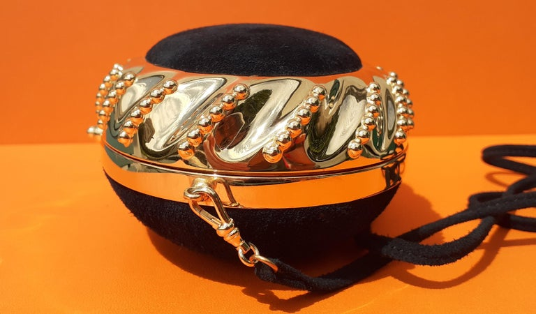 Exceptional Hermès Evening Clutch Bag Minaudière Doblis and Golden Hdw RARE For Sale 3