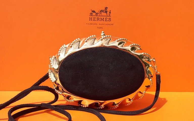 Exceptional Hermès Evening Clutch Bag Minaudière Doblis and Golden Hdw RARE For Sale 4