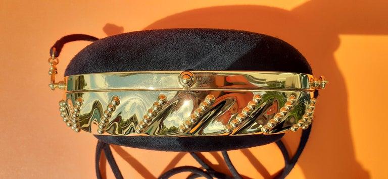 Exceptional Hermès Evening Clutch Bag Minaudière Doblis and Golden Hdw RARE For Sale 5