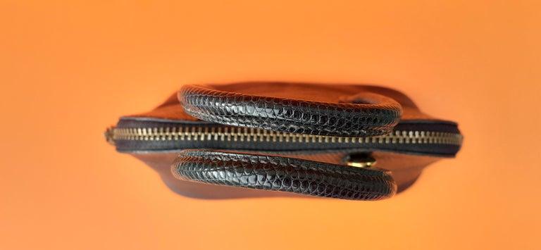 Exceptional Hermès Micro Bolide Bag Black Lizard Golden Hdw 16 cm RARE For Sale 6