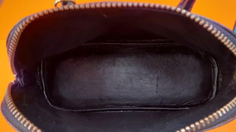 Exceptional Hermès Micro Bolide Bag Black Lizard Golden Hdw 16 cm RARE For Sale 8