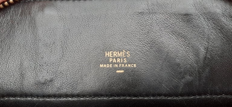 Exceptional Hermès Micro Bolide Bag Black Lizard Golden Hdw 16 cm RARE For Sale 9