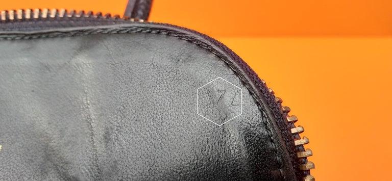 Exceptional Hermès Micro Bolide Bag Black Lizard Golden Hdw 16 cm RARE For Sale 10