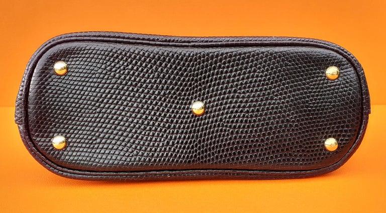Exceptional Hermès Micro Bolide Bag Black Lizard Golden Hdw 16 cm RARE For Sale 3