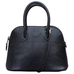 Exceptional Hermès Micro Bolide Bag Black Lizard Golden Hdw 16 cm RARE
