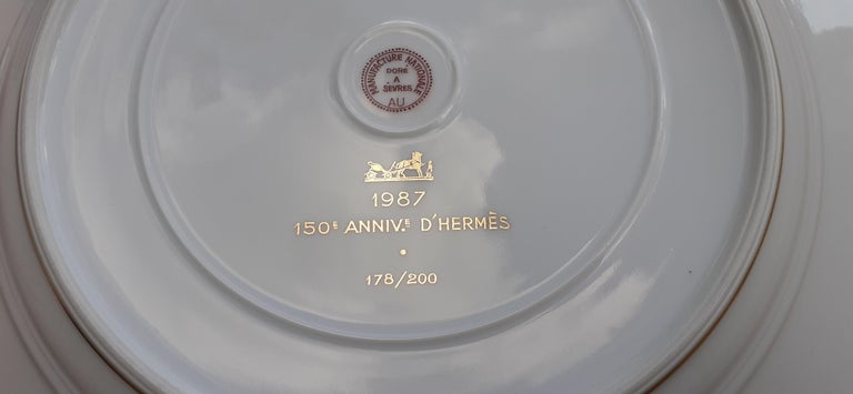 Exceptional Hermès Plate Dish Feux d'Artifice 150th Anniversary Only 200 Pieces For Sale 5