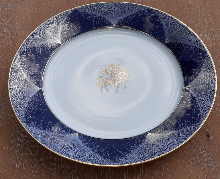 Please choose EXPRESS shipping for this fragile item. No shipping in standard  Exceptional Authentic Hermès Dish  Pattern: