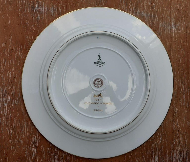 Exceptional Hermès Plate Dish Feux d'Artifice 150th Anniversary Only 200 Pieces For Sale 3