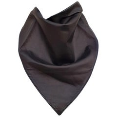 Exceptional Hermès Scarf Col Fichu Lambskin Leather Rodeo Bandana Texas RARE