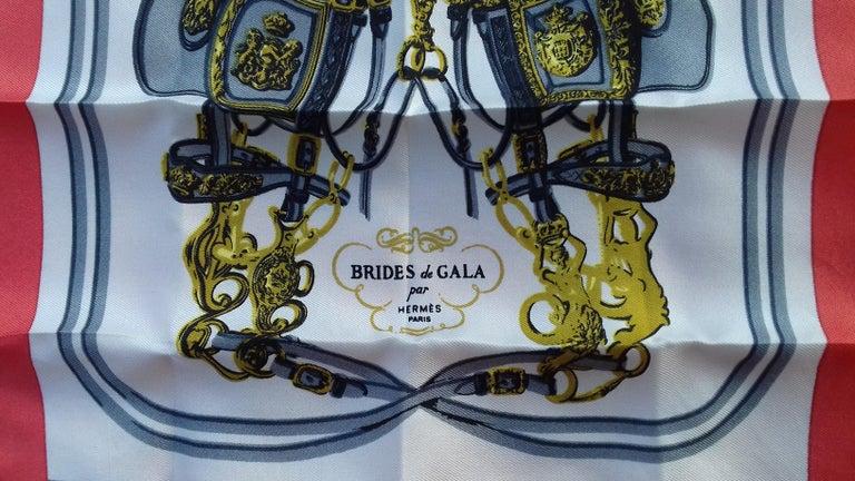 Women's or Men's Exceptional Hermès Smallest Scarf Ever Brides de Gala Bleuette Doll 20 cm  For Sale