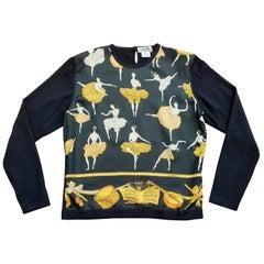 Exceptional Hermès Sweater Pullover La Danse Cashmere and Silk Size S/M
