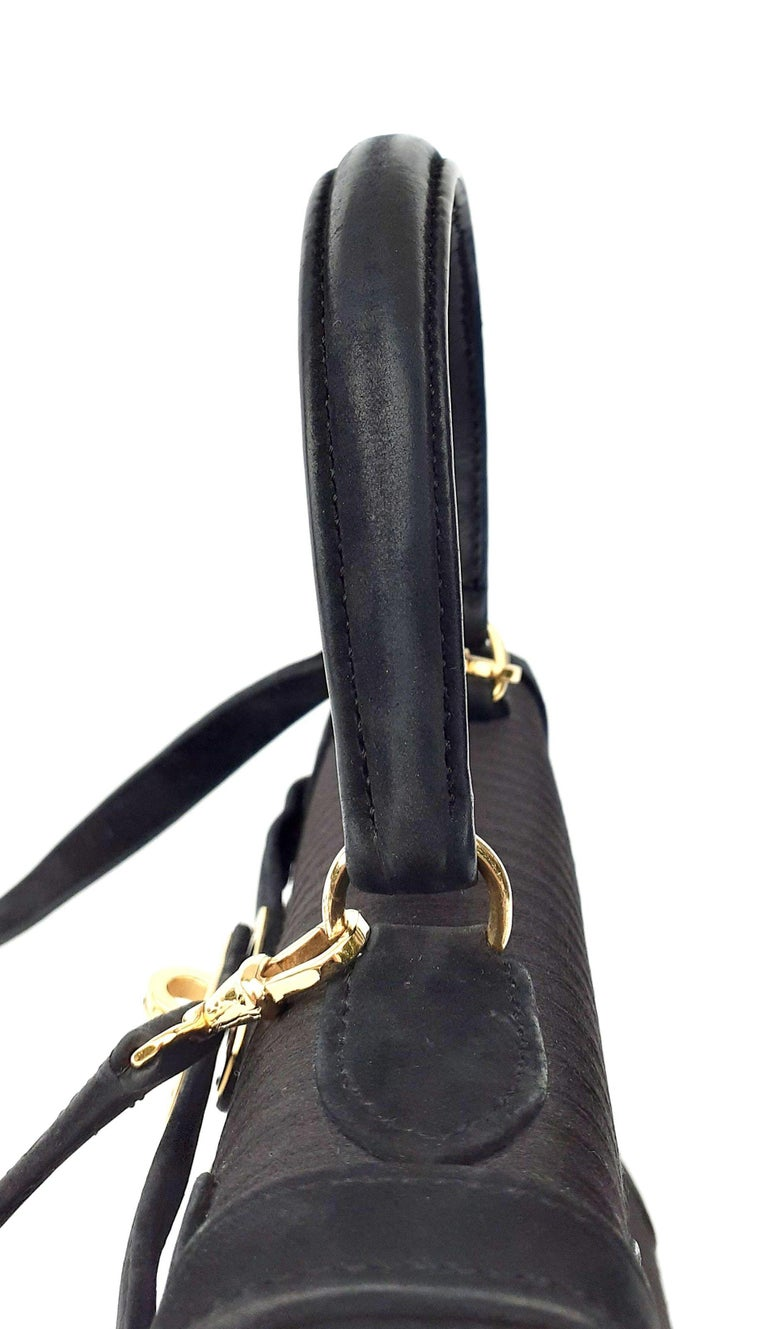 Exceptional Hermès Vintage Mini Kelly Sellier Bag Satin and Doblis Gold Hdw 20cm For Sale 1