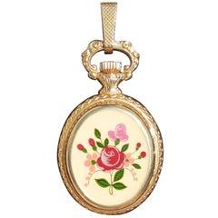 Exceptional Hermes Vintage Pendant Watch Manual Winding Swiss Enamel RARE