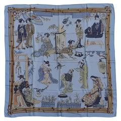 Exceptional Hermès Vintage Silk Scarf Geisha Japan Françoise Heron 1964 RARE