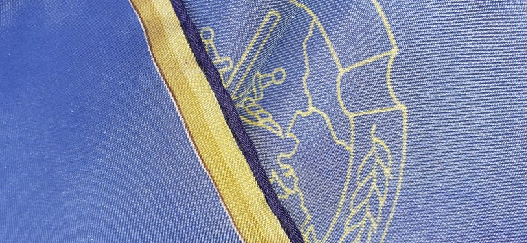 Exceptional Hermès Vintage Silk Scarf OTAN NATO Hugo Grygkar 1956 RARE For Sale 9