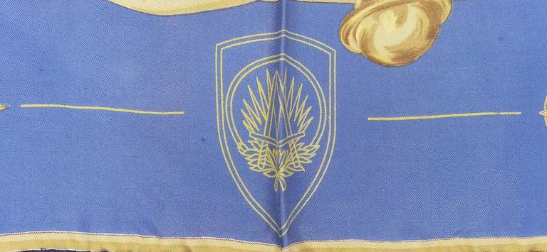 Exceptional Hermès Vintage Silk Scarf OTAN NATO Hugo Grygkar 1956 RARE For Sale 1