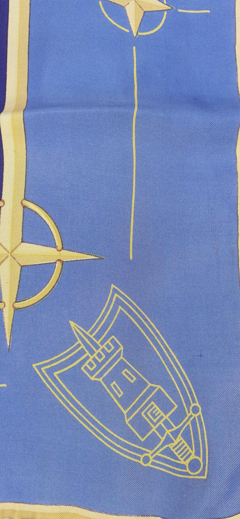 Exceptional Hermès Vintage Silk Scarf OTAN NATO Hugo Grygkar 1956 RARE For Sale 2