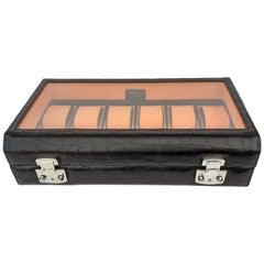 Exceptional Hermès Watch Box in Crocodile 12 Boxes Rare