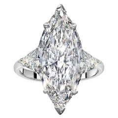 Exceptional Internally Flawless GIA Certified 5.23 Carat Marquise Diamond Ring