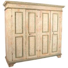 Exceptional Italian Four-Door Cupboard, circa 1800