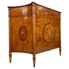 Exceptional Joseph Gerte Co. Regency-Style Inlaid Mahogany and Burl Veneer Side