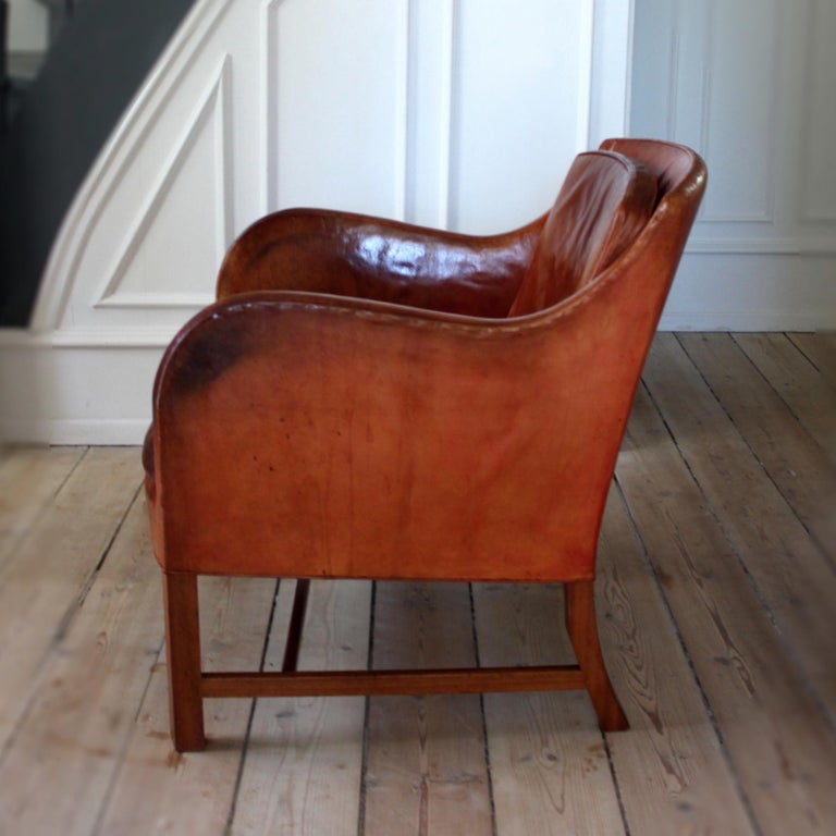 Kaare Klint Mix Chair in Original Niger Leather In Good Condition For Sale In Copenhagen, DK
