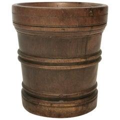 Exceptional Large 18th Century Queen Anne Period Lignum Vitae Mortar