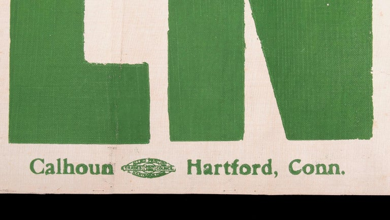 Canvas Exceptional Large Votes for Women Banner in Violet & Green, Made in Hartford, CT