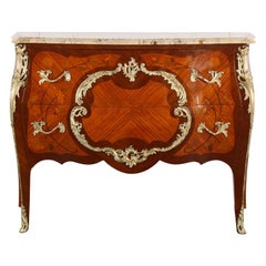 Exceptional Louis XV Style Bombe Commode