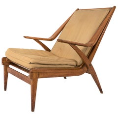 Exceptional Lounge Chair in the Attributed to Augusto Romano, circa 1948