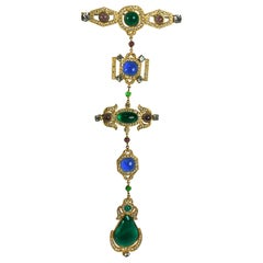 Exceptional Maison Gripoix for Chanel Regency  Brooch