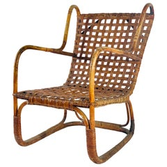 Exceptional Midcentury French Rattan Chair