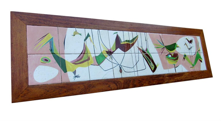 Italian Exceptional Mid-Century Modern Art Tile Table, Italy, 1960s For Sale
