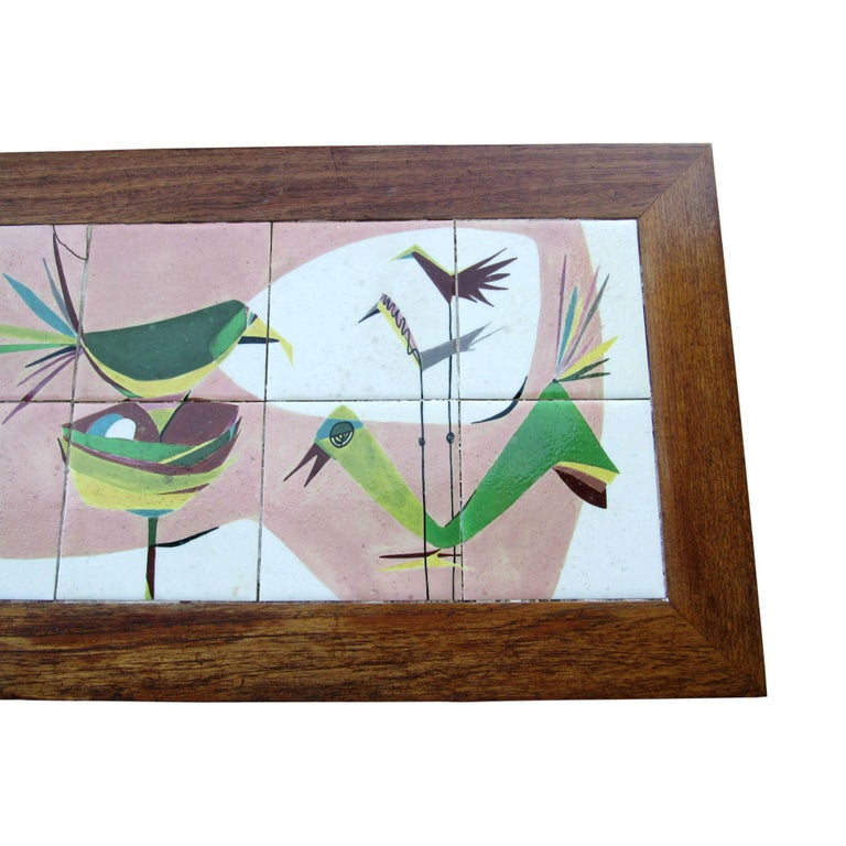Ceramic Exceptional Mid-Century Modern Art Tile Table, Italy, 1960s For Sale