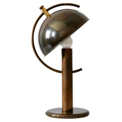 Exceptional Mid-Century Modern Brass Table Lamp by Florian Schulz Germany 1970s