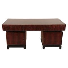 Exceptional Mid-Century Modern Desk in Macassar Ebony, French, 1960
