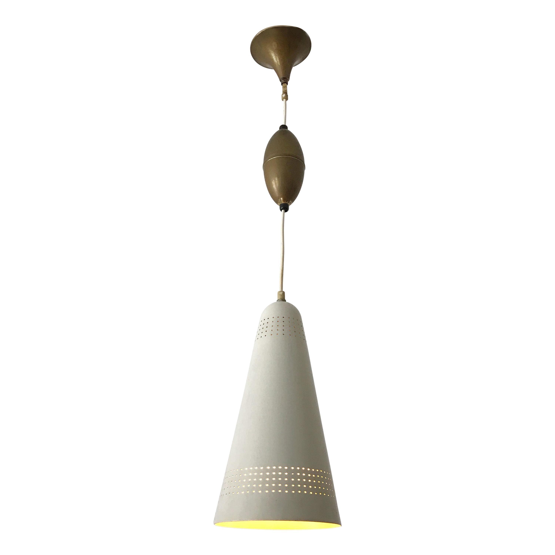 Exceptional Mid-Century Modern Pendant Lamp or Hanging Light, 1960s, Scandinavia