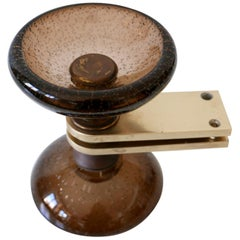 Exceptional Mid-Century Modern Push & Pull Murano Glass Door Handles Italy 1960s