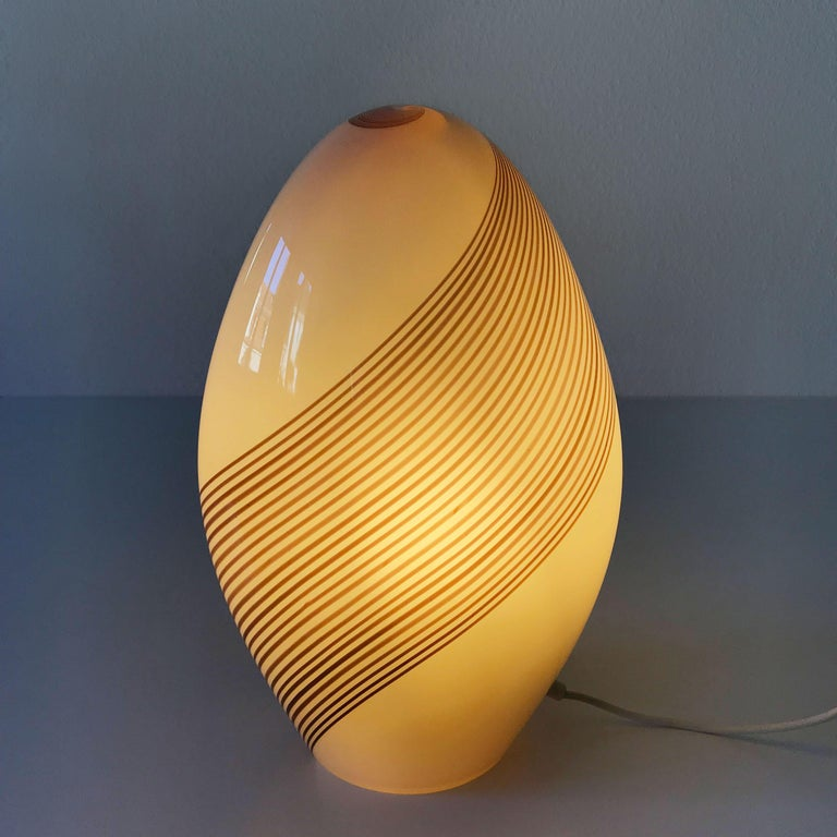 Exceptional Murano Glass Table Lamp by Lino Tagliapietra for Effetre, 1980s For Sale 4