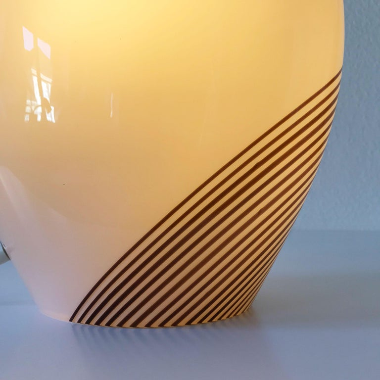 Exceptional Murano Glass Table Lamp by Lino Tagliapietra for Effetre, 1980s For Sale 6