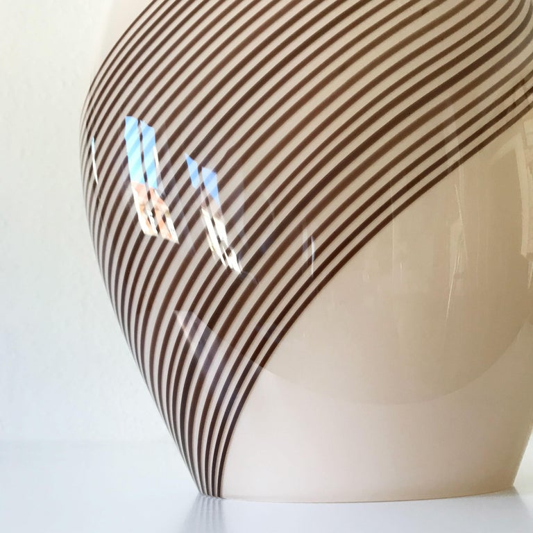 Exceptional Murano Glass Table Lamp by Lino Tagliapietra for Effetre, 1980s For Sale 7