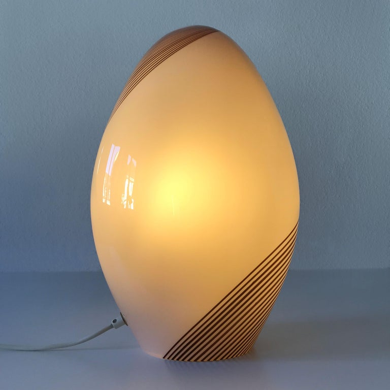Italian Exceptional Murano Glass Table Lamp by Lino Tagliapietra for Effetre, 1980s For Sale