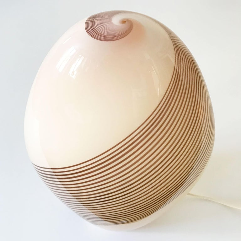 Exceptional Murano Glass Table Lamp by Lino Tagliapietra for Effetre, 1980s In Good Condition For Sale In Munich, DE
