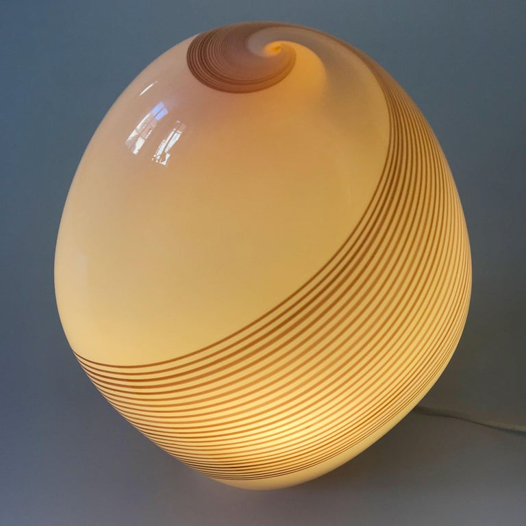 Late 20th Century Exceptional Murano Glass Table Lamp by Lino Tagliapietra for Effetre, 1980s For Sale