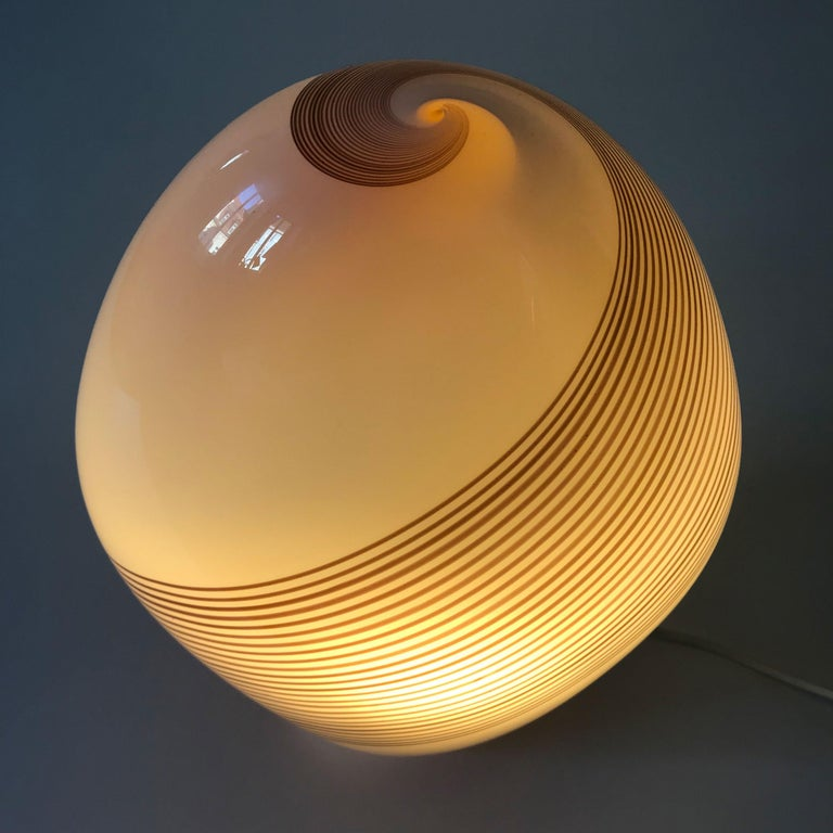 Exceptional Murano Glass Table Lamp by Lino Tagliapietra for Effetre, 1980s For Sale 1