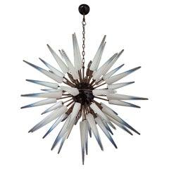 Exceptional Murano Opalino Glass Sputnik Chandelier, 51 Glasses