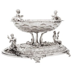 Exceptional Nautical Themed Silver Centerpiece by Buccellati