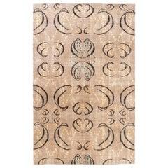 Exceptional One-of-a-Kind Art Deco Design Rug, 5.7x9 Ft Handmade Turkish Carpet