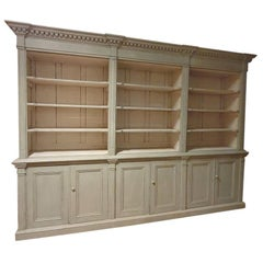Exceptional Painted Irish Bookcase