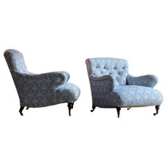 Exceptional Pair of Howard & Sons 'Bridgewater' Armchairs, circa 1880